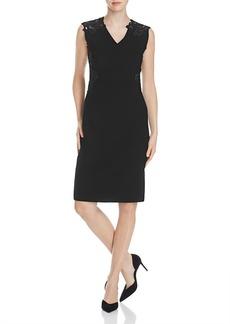 Elie Tahari Benita Lace Panel Sheath Dress