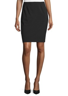 Elie Tahari Bennet Short Pencil Skirt  Black
