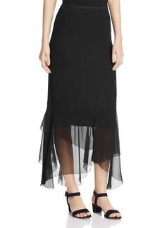 Elie Tahari Bensa Tiered Silk Skirt