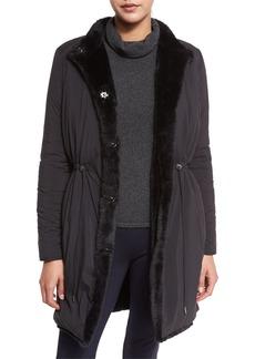 Elie Tahari Berit Reversible Faux-Fur Trimmed Coat