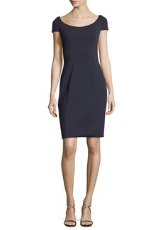 Elie Tahari Bernice Short-Sleeve Fitted Dress