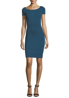 Elie Tahari Bernice Short-Sleeve Sheath Dress