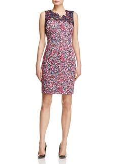 Elie Tahari Blake Floral Print Dress
