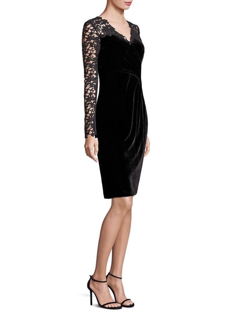 Elie Tahari Blakely Velvet Lace Dress