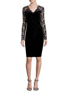 Elie Tahari Blakely Velvet & Lace Dress
