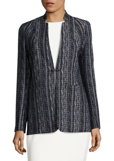 Elie Tahari Bonnie Embellished Tweed Jacket