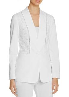 Elie Tahari Bonnie Lace Detail Jacket