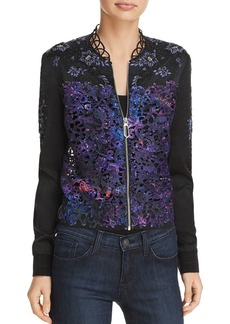 Elie Tahari Brandy Embellished Bomber Jacket - 100% Exclusive