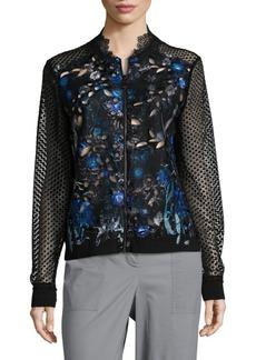 Elie Tahari Brandy Lace Bomber Jacket