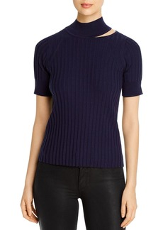 Elie Tahari Bri Cutout Turtleneck Sweater