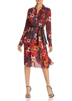 Elie Tahari Brinx Belted Floral-Print Dress