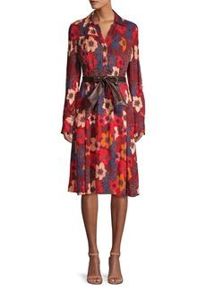 Elie Tahari Brinx Belted Floral Shirtdress