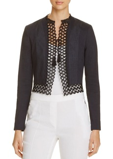 Elie Tahari Britta Embroidered Jacket