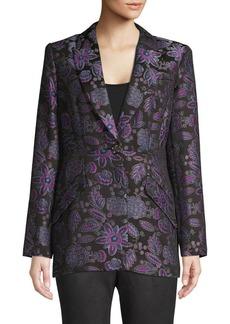 Elie Tahari Brocade Floral Jacket