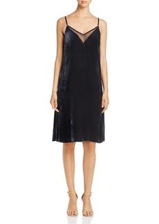 Elie Tahari Brody Velvet Slip Dress