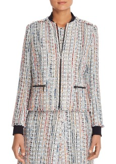 Elie Tahari Brooke Tweed Jacket