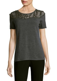 Elie Tahari Brooklyn Merino Top
