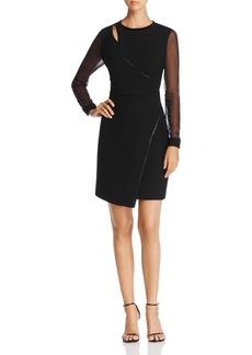 Elie Tahari Bryndal Faux Wrap Dress