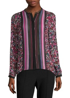 Elie Tahari Buffy Printed Silk Blouse
