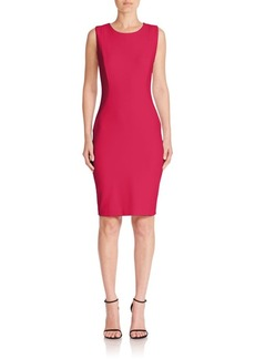 Elie Tahari Cailyn Sleeveless Jewelneck Dress