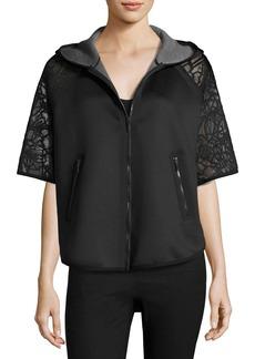 Elie Tahari Caitlyn Lace-Trim Performance Jacket