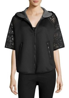 Elie Tahari Caitlyn Lace-Trim Performance Jacket