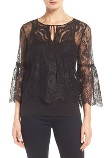 Elie Tahari Calista Bell Sleeve Lace Blouse