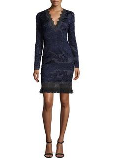Elie Tahari Camden Long-Sleeve Lace Dress
