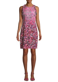 Elie Tahari Carelle Ombré-Floral Shift Dress