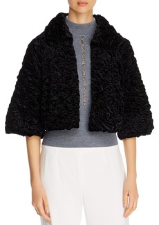 Elie Tahari Carini Ruched Velvet Jacket