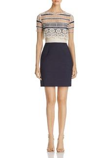 Elie Tahari Carline Crochet Bodice Dress