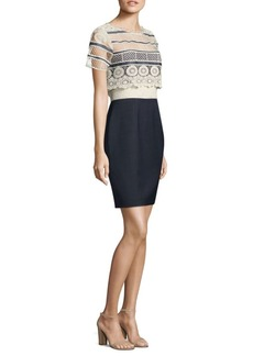 Elie Tahari Carline Crochet Dress
