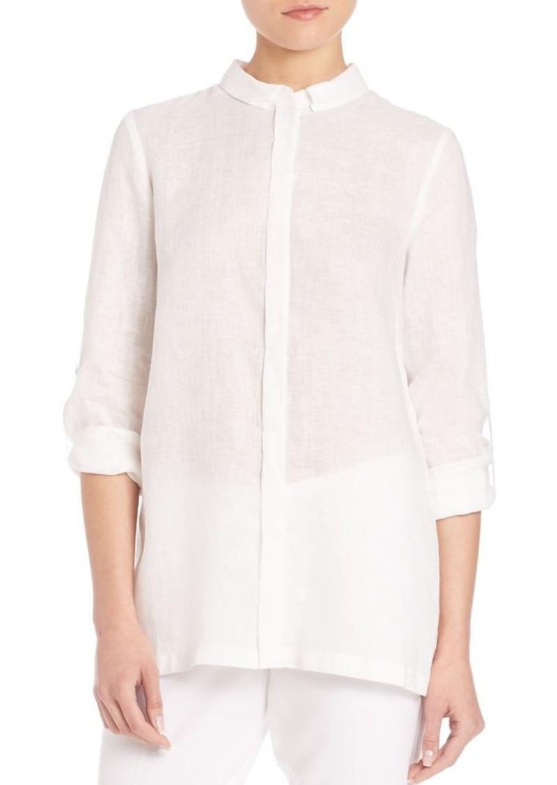 e8ee46515911 Elie Tahari Elie Tahari Carly Linen Blouse   Dress Shirts