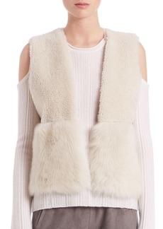 Elie Tahari Carly Reversible Shearling Vest