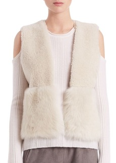 Elie Tahari Carly Reversible Shearling Vest