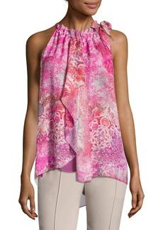 Elie Tahari Carmen Floral Silk Blouse