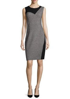 Elie Tahari Carmen Sleeveless Two-Tone Sheath Dress