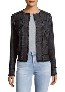 Elie Tahari Carol Marbled Tweed Jacket