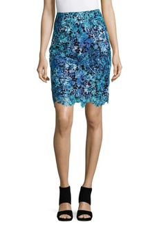 Elie Tahari Carolina Lace Skirt