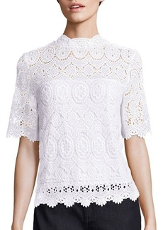 Elie Tahari Carolyn Medallion Lace Blouse