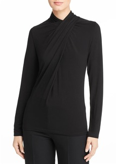 Elie Tahari Carrie Draped Overlay Top