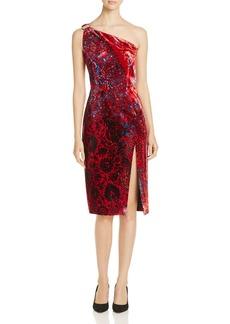Elie Tahari Carter One Shoulder Velvet Dress - 100% Exclusive