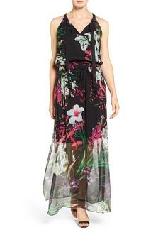 Elie Tahari 'Cayla' Floral Print Silk Maxi Dress