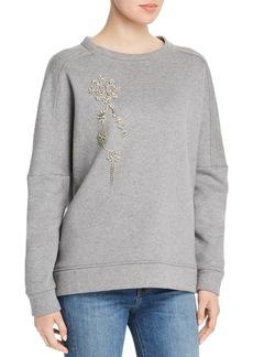 Elie Tahari Chantae Embellished Sweatshirt