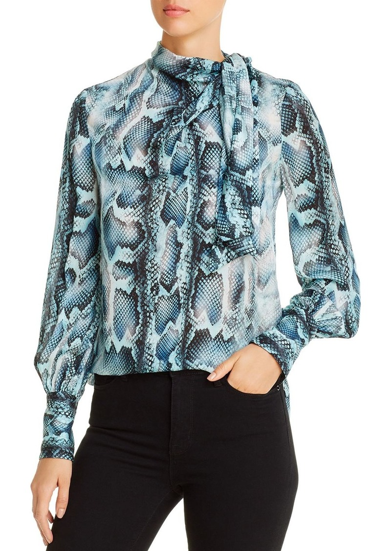 Elie Tahari Chantal Viperine Silk Blouse