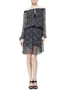 Elie Tahari Charisse Off-The-Shoulder Floral-Print Dress