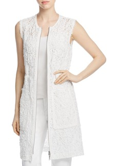 Elie Tahari Chloe Embroidered Vest