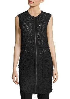 Elie Tahari Chloe Rope-Trim Lace Vest
