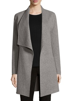 Elie Tahari Christina Wool-Blend Open Coat