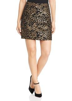 Elie Tahari Cici Sequined Leopard Skirt